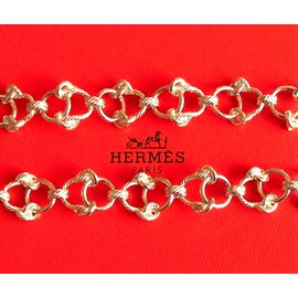Hermès-Long necklaces-Silvery