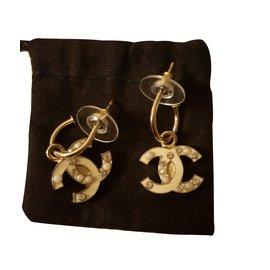 Chanel-Earrings-Beige