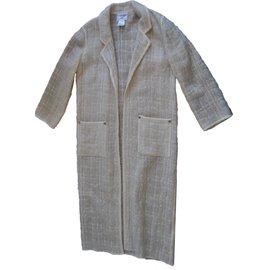 Chanel-Coats, Outerwear-Beige