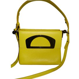 "Christian Louboutin-sac messenger ""Passage Mini""-Jaune"
