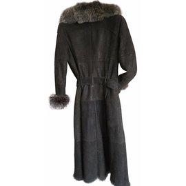 Yves Salomon-Coats, Outerwear-Brown