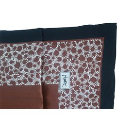 Yves Saint Laurent-Foulards-Marron