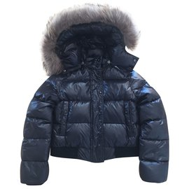 Moncler-Blousons, manteaux garçon-Noir