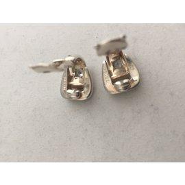 Hermès-Boucles d'oreilles-Argenté