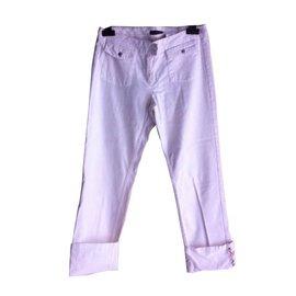 Burberry-Pants, leggings-White