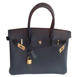Hermès-Handbags-Blue