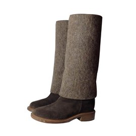 Chanel-Boots-Brown