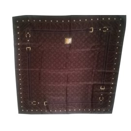 Louis Vuitton-Scarves-Brown
