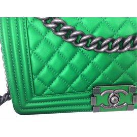 Chanel-Handbags-Green