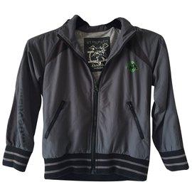 Roberto Cavalli-Coats Outerwear-Grey