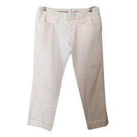Dsquared2-Pantalons-Blanc