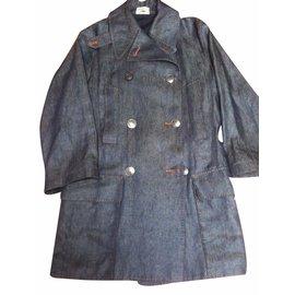 Hermès-Trench coats-Blue