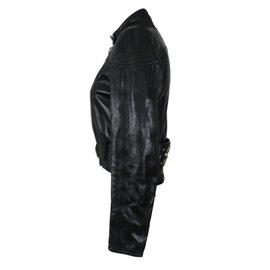 Gucci-Veste cuir-Noir