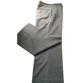 Chanel-Pantalon laine - cashmere-Gris