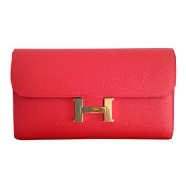 Hermès-Constance clutch wallet-Rose
