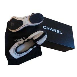 Chanel-Ballet flats-White