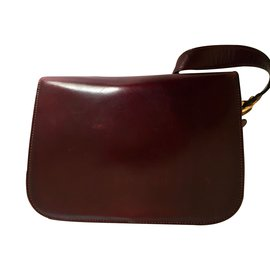 Céline-Handbags-Dark red