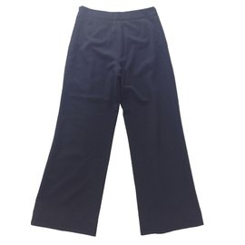 Chanel-Pantalon taille haute-Noir
