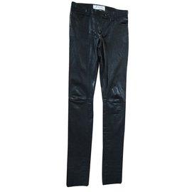 """Autre Marque-Pantalon cuir """"By Nisearch""""-Noir"""