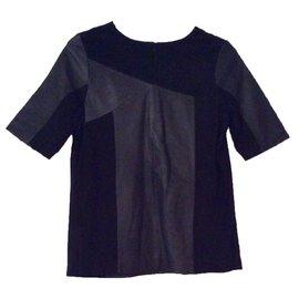 Bel Air-Top en cuir-Noir