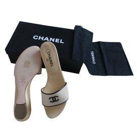 Chanel-Mules Chanel beige-Beige