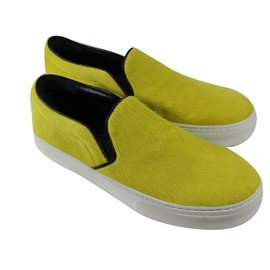 Céline-Slippers-Yellow