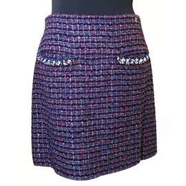 Chanel-Chanel Tweed Skirt-Multiple colors