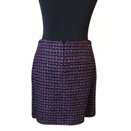 Chanel-Jupe Tweed-Multicolore