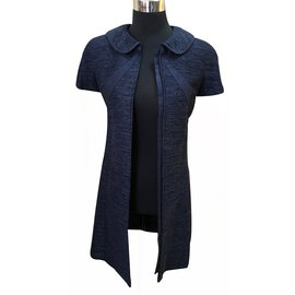 Chanel-Robe denim-Bleu