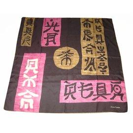 Lanvin-carré japonisant-Rose