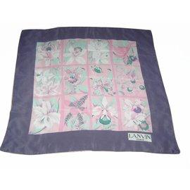 Lanvin-carré aux orchidées-Violet