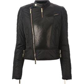 Dsquared2-Biker en cuir-Noir