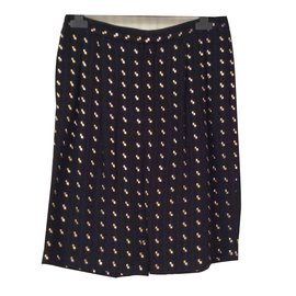 Chloé-Chloé silk and gold thread short-Black
