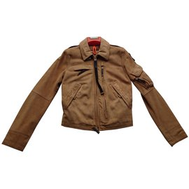 Parajumpers-Leather jacket-Sand