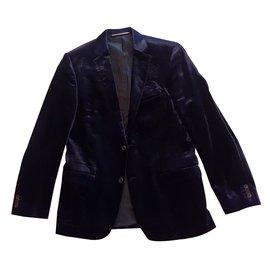 Karl Lagerfeld-Extravagant Velvet Suit von Karl Lagerfeld-Blue