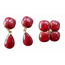 Yves Saint Laurent-Jewellery set-Red