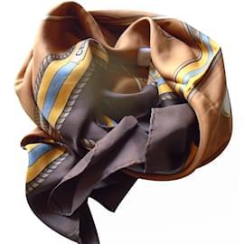 Céline-Silk scarves-Caramel