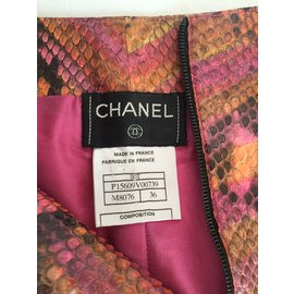 Chanel-Python leather short multicolor-Multiple colors