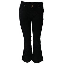 7 For All Mankind-velvet pants-Black