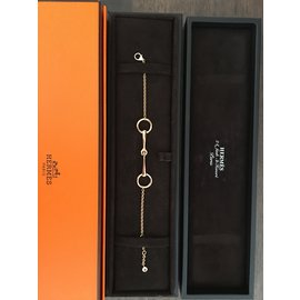 Hermès-Hermes Filet d'Or Rose Bracelet-Doré