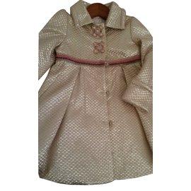 Pinco Pallino-Girls coat-Golden