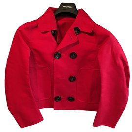 Dsquared2-Manteaux-Rouge
