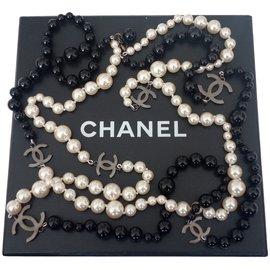 Chanel-SAUTOIR CHANEL PERLES-Noir ... 0f112788ed9
