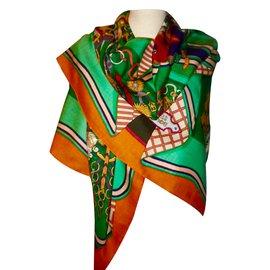 Hermès-BOUQUETS SELLIER-Multicolore