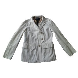 Burberry-Jackets-White