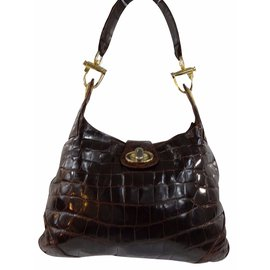 Céline-Handbags-Chestnut