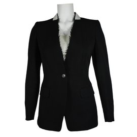 Dries Van Noten-Veste en laine-Noir