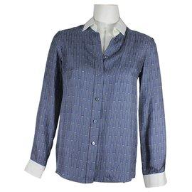 Gucci-Chemisier en soie-Bleu