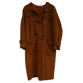 Yves Saint Laurent-duffle coat-Caramel