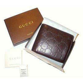Gucci-GUCCI portefeuille Signature-Marron